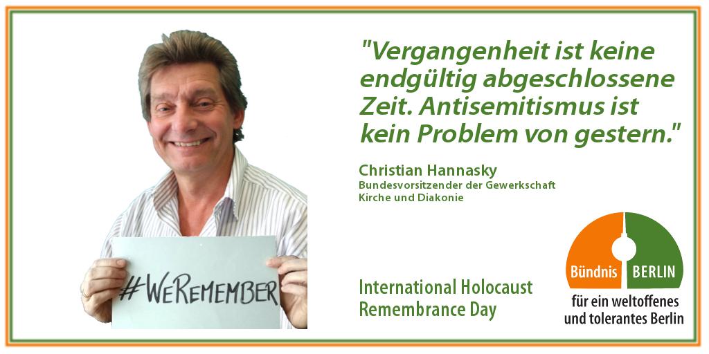Bündnis: International Holocaust Rememberance Day – Christian Hannasky