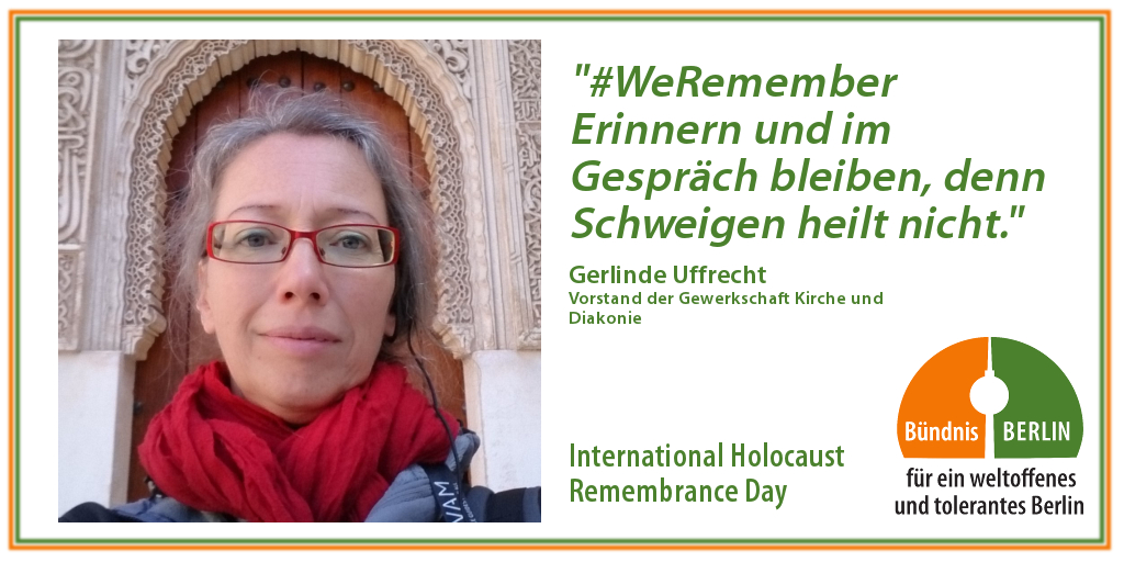 Bündnis: International Holocaust Rememberance Day – Gerlinde Uffrecht