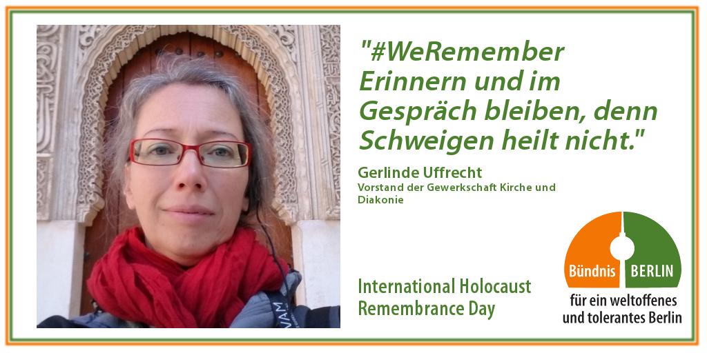 Bündnis: International Holocaust Rememberance Day – Gerlinde Uffrecht