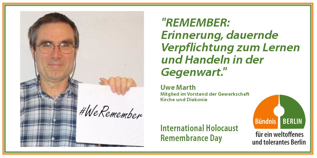 Bündnis: International Holocaust Rememberance Day – Uwe Marth