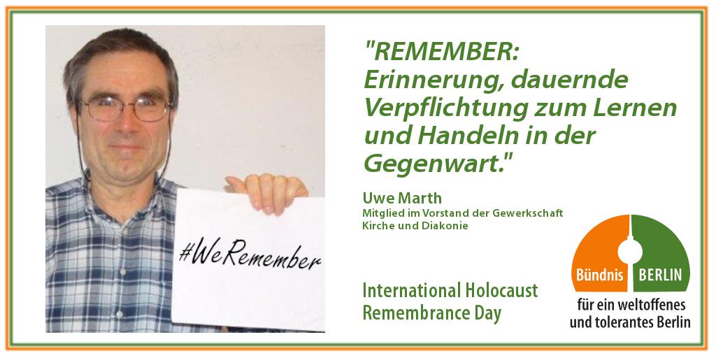 Bündnis: International Holocaust Rememberance Day – Uwe Marth